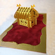 "3D Greeting card ""Duchess"""