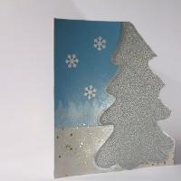 SNOWFLAKE Christmas 3D postcard