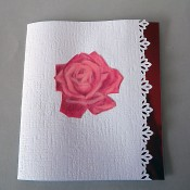 Pop-up greeting card ROSES