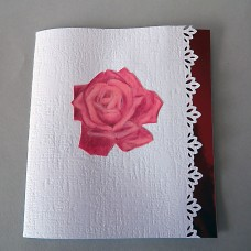 Pop-up greeting card ROSE