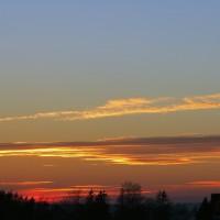Evening sky in Samogitia