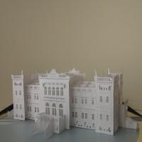 Pop-up papersculpture of Oginsky Palace