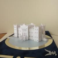 Pop-up paper sculpture of Oginsky Palace